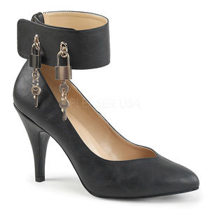 """Shoes - 4"""" High Heel Lock Key Pump Wide Band Ankle Shoes"""